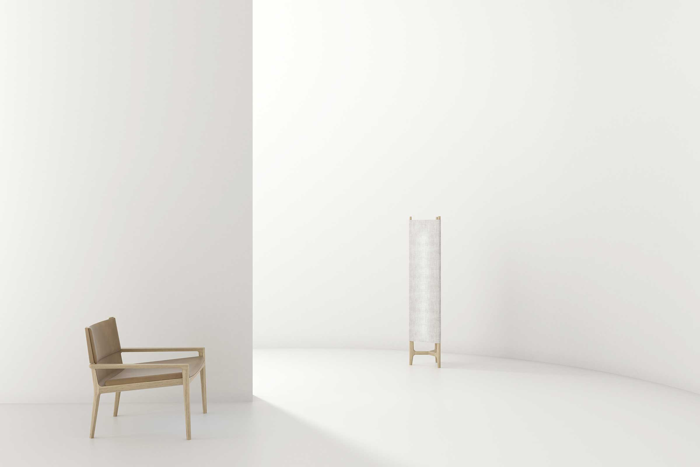The Taylor lounge chair and floor lamp for Stellar Works