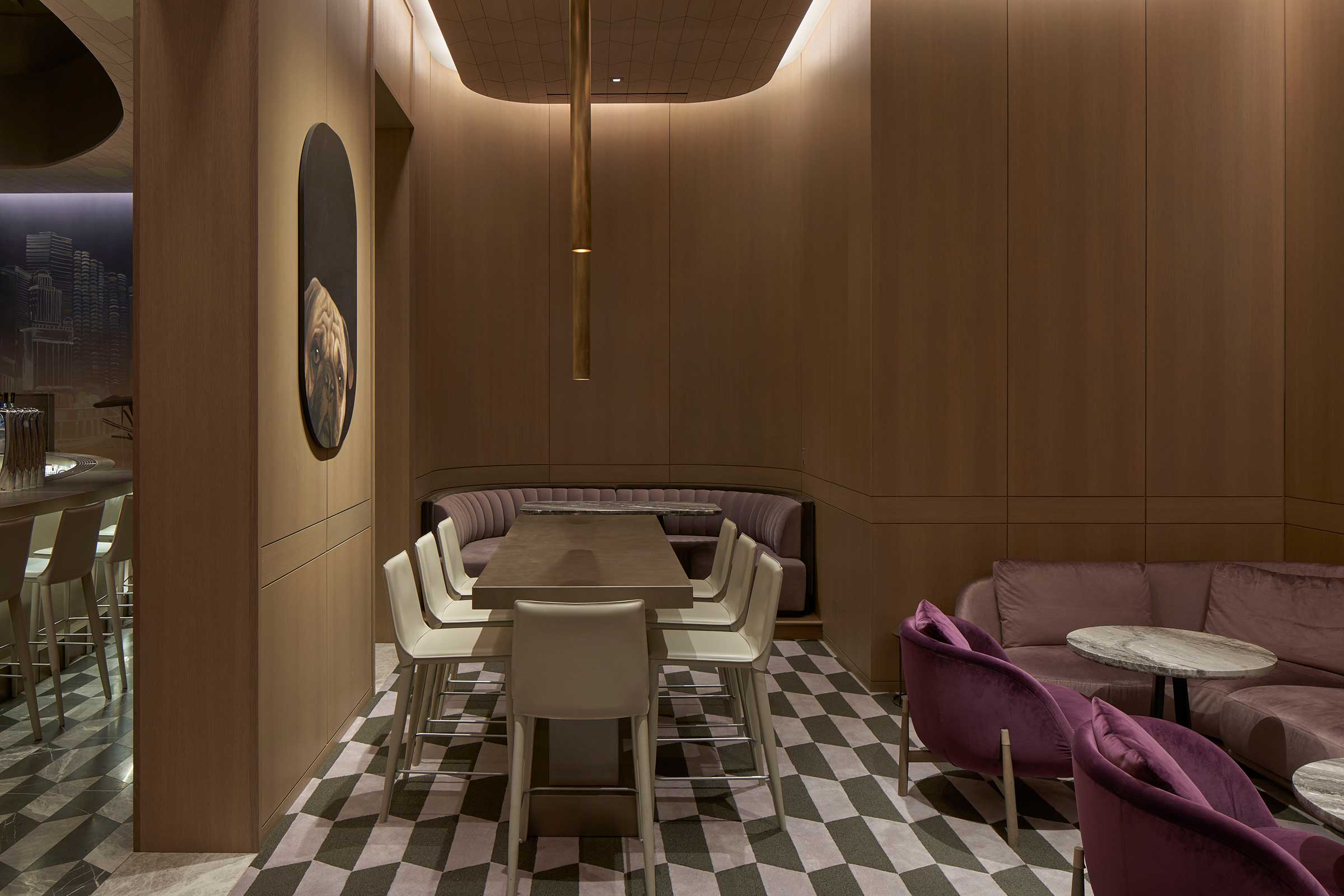 The studio is also behind the design of the The Peninsula Chicago's Z Bar. Image by Alice Gao