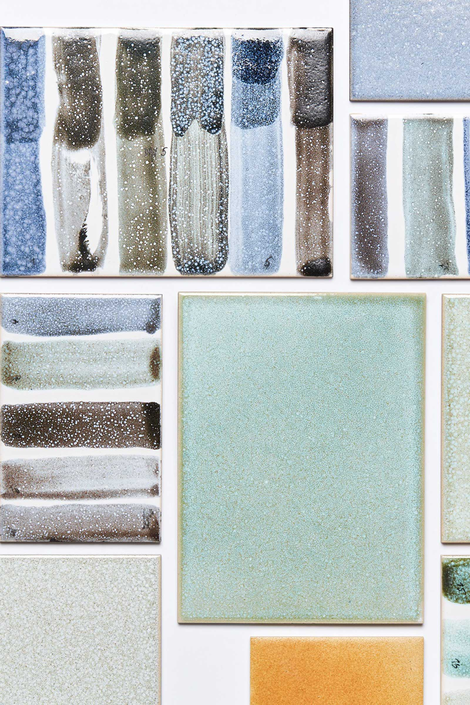 Both Studio Mixtura (left) and Atelier NL (right) work with rejected materials. The former transforms mineral residues from waste incineration into beautiful ceramic glazes, while the latter turns wild sand — rejected because it doesn't produce clear glass — into colourful wares that reflect its original terrain. Images courtesy of Dutch Design Foundation