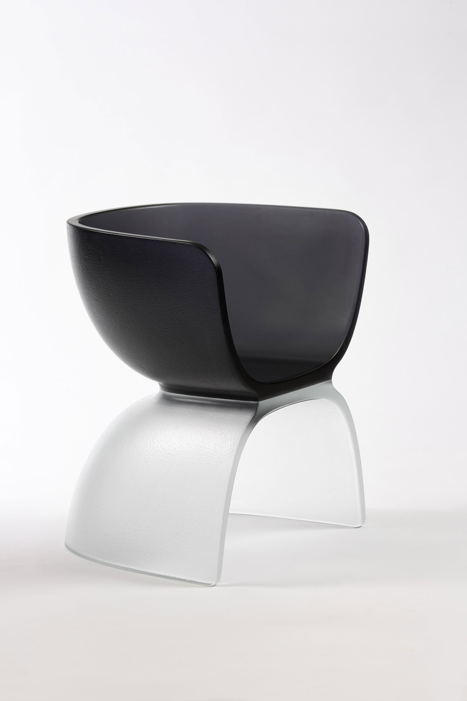 Charcoal Glass Chair , Cast Glass by Marc Newson. Image by Jaroslav Kvíz. Courtesy Gagosian