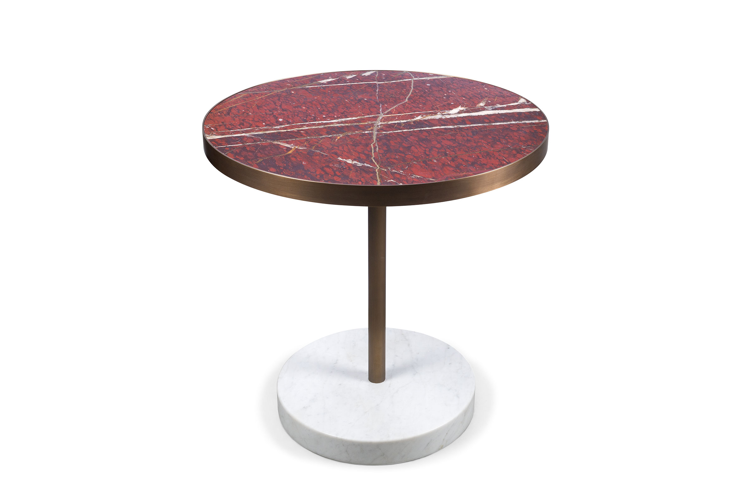 A Renè Bistrot table from the Lost Stones collection, designed by Piero Lissoni for Salvatori. Image courtesy of Salvatori