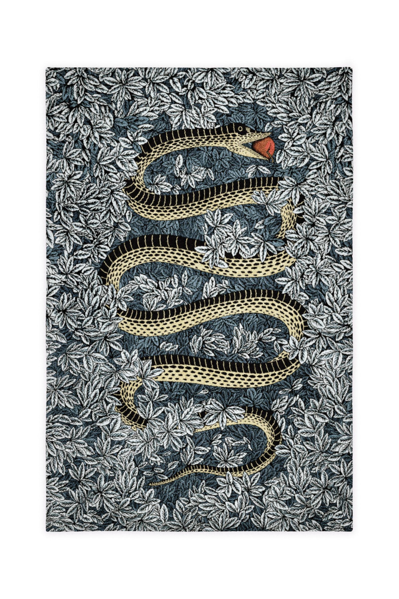 Fornasetti's Peccato Originale rug. Image courtesy of Fornasetti