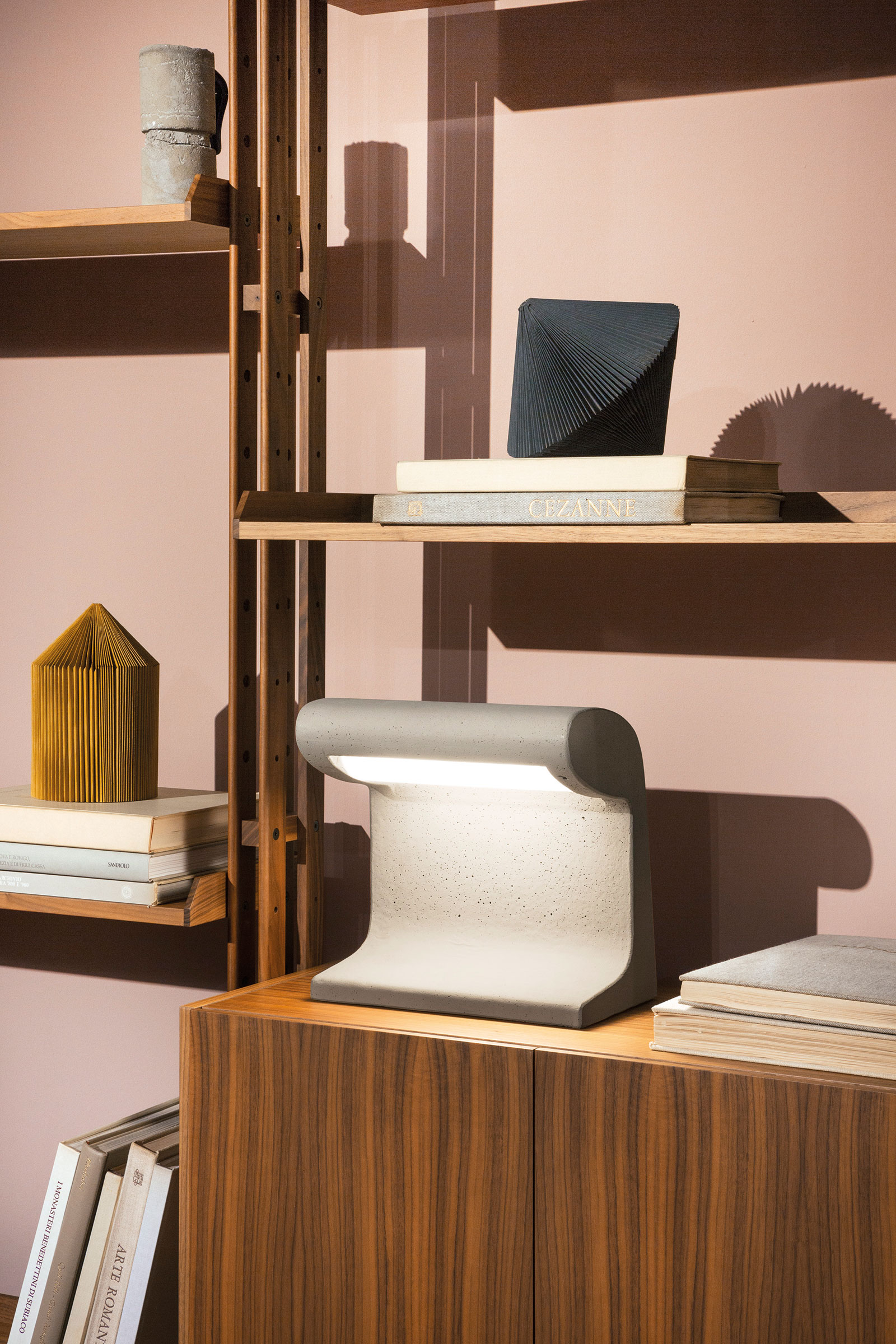 A miniature version of Le Corbusier's Borne Béton lamp. Image courtesy of Nemo Lighting