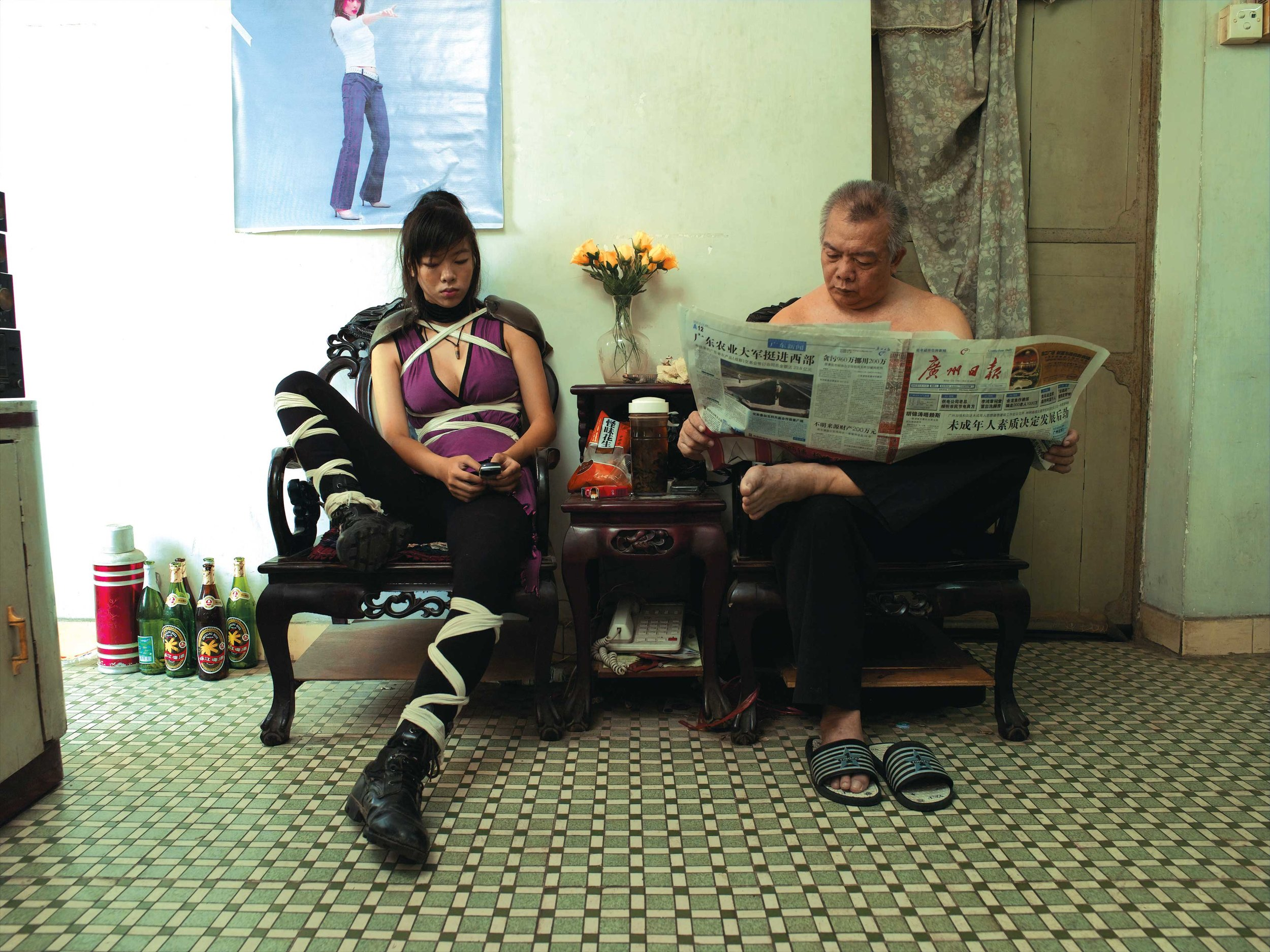 A Ming at Home  (From Cosplayers Series), 2004. Inkjet print, 75 x 100 cm
