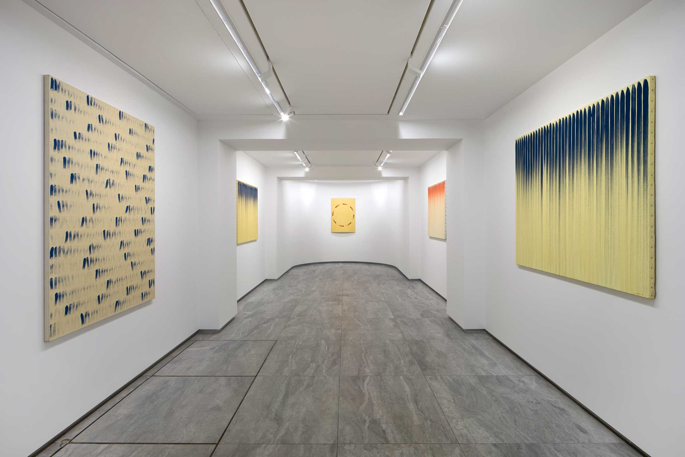 Installation view of 'From Point, From Line: 1976 - 1982' at kamel mennour, avenue Matignon, Paris