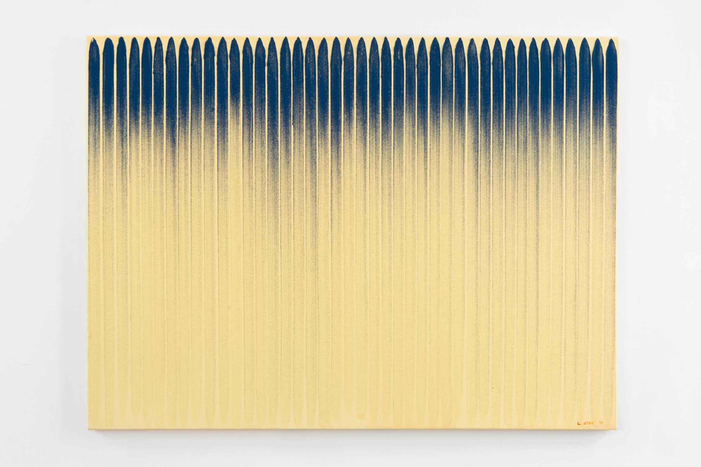 From Line , 1978. Oil and pigment on canvas