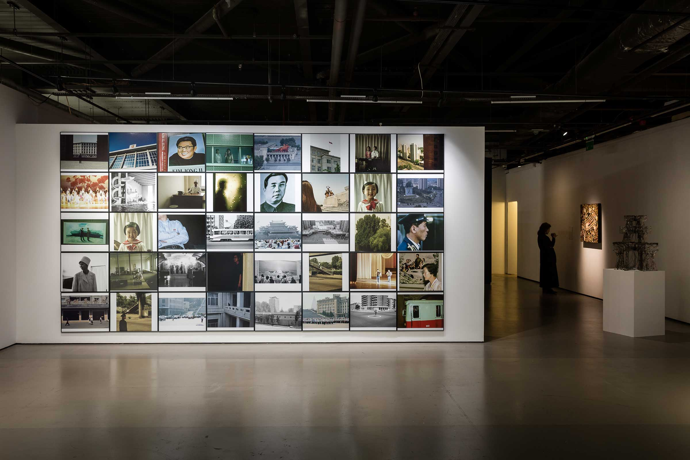 Installation view of Seung Woo Back's Blow Up series in Negotiating Borders (2019) at the Korean Cultural Centre UK. Image by Dan Weil. Courtesy of the artists and the Korean Cultural Centre UK