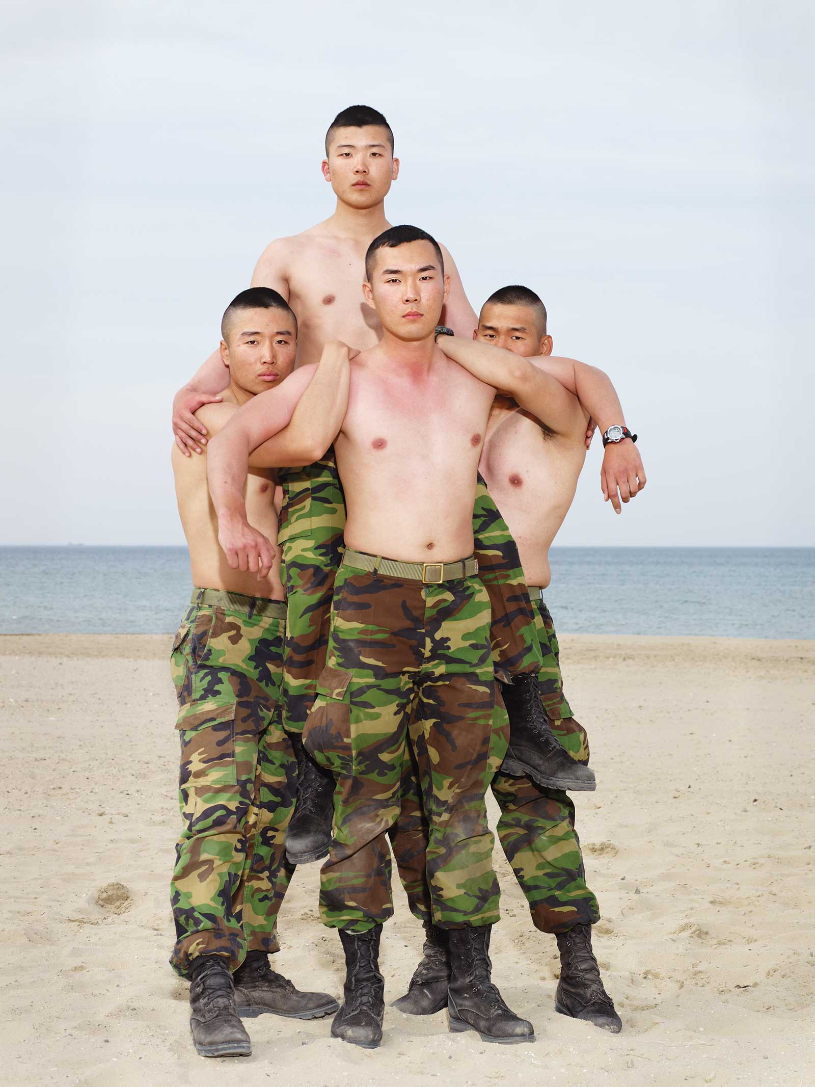 Heinkuhn OH,  Four soldier before a mock cavalry battle, May 2010 , 2010. 132 x 105cm, C Print. Image courtesy of the artist