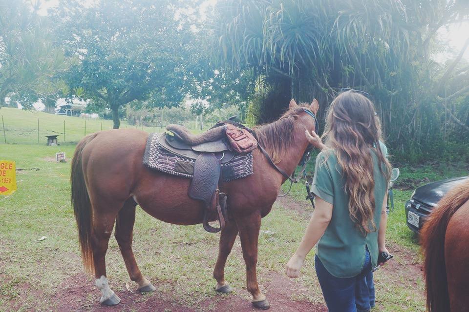 horseback riding in the jungle hawaii big island hilo travel tourism blogger vlogger influencer carla maria bruno blog lifestyle adventure.JPG