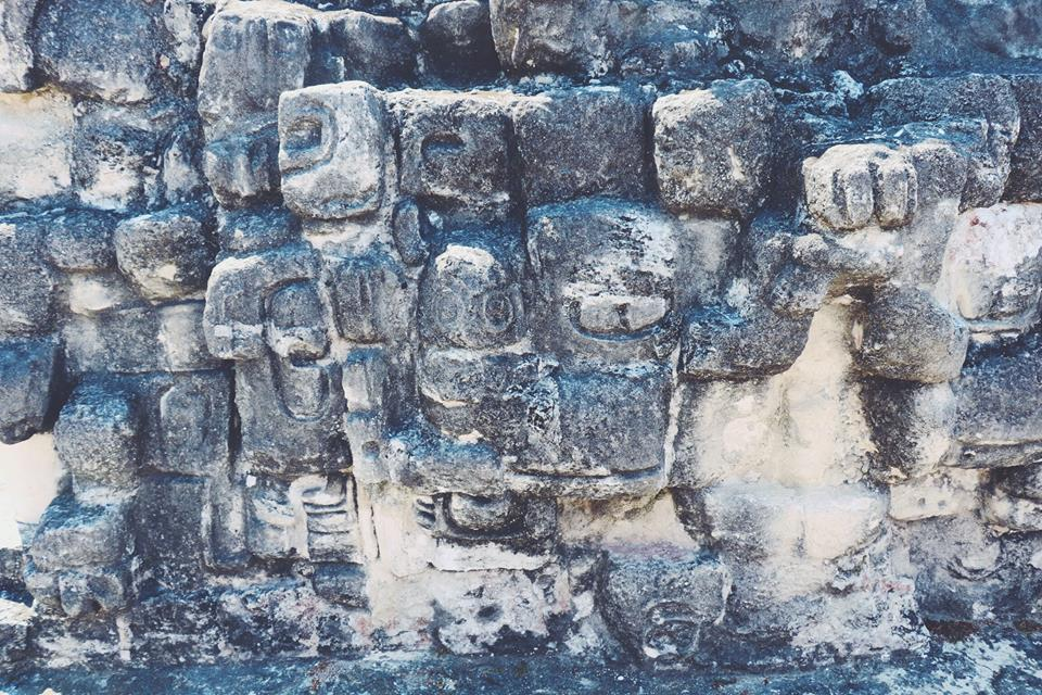 stone mayan walls tikal flores guatemala mayan tours mayan ruins backpacking carla maria bruno travel blogger vlogger influencer.jpg
