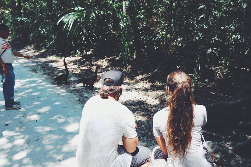 carla and her husband exploring tikal flores guatemala mayan tours mayan ruins backpacking carla maria bruno travel blogger vlogger influencer.jpg