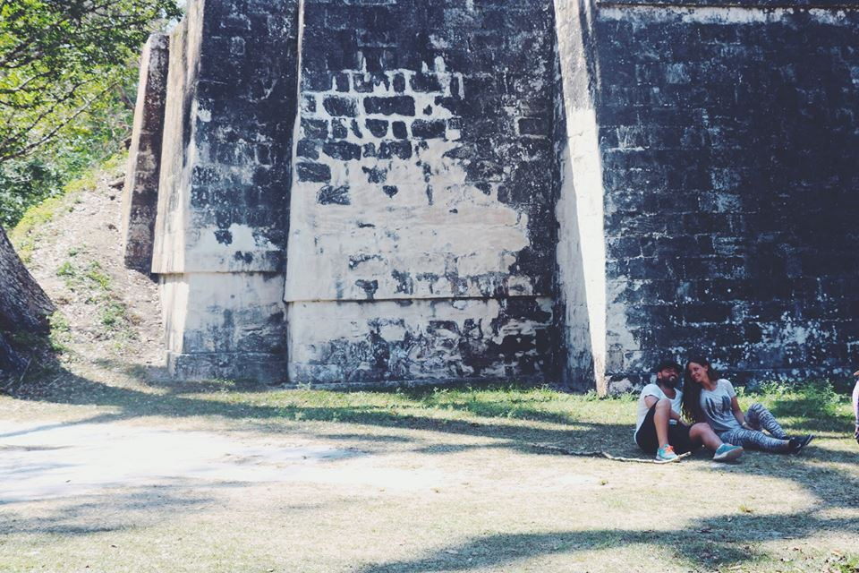 carla and her hubby tikal flores guatemala mayan tours mayan ruins backpacking carla maria bruno travel blogger vlogger influencer.jpg