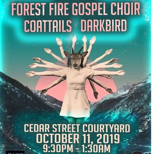 Next show is just a couple weeks out! We'll be joining @forestfiregospelchoir and local honey pies @darkbirdband @cedarstreet for some post #ACL grindage. 🍻🖤