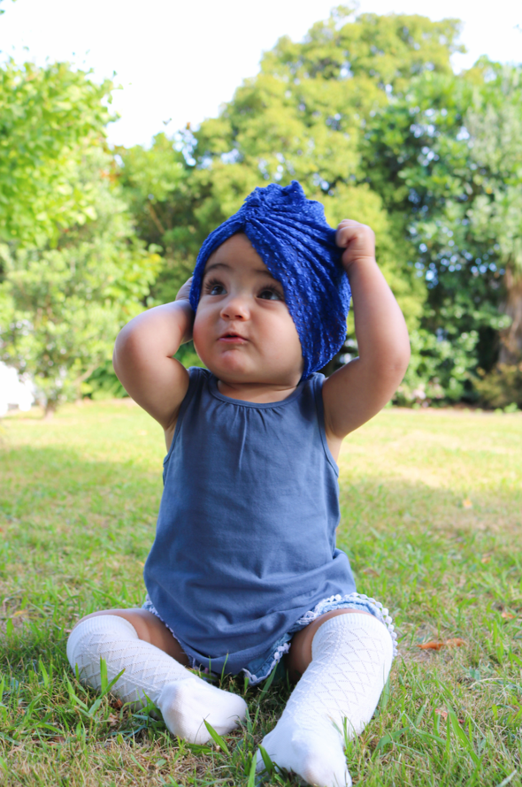 Blue Lace Turban