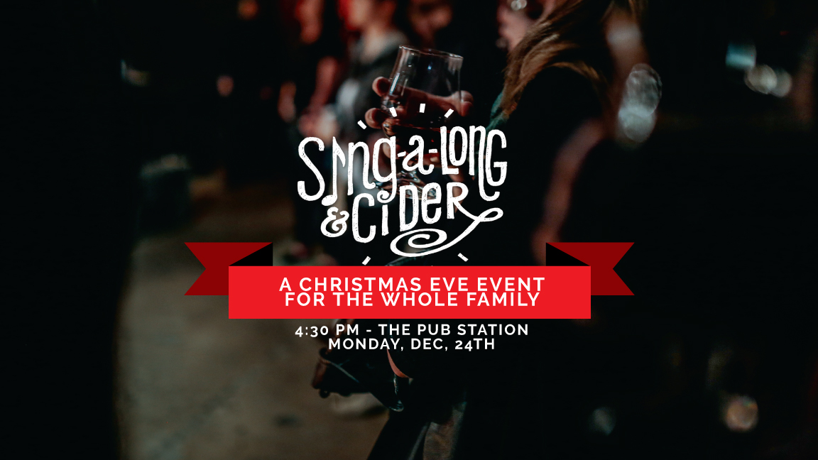 Sing-a-long & Cider is our favorite event of the year! Join us on Christmas Eve at Pub Station to enjoy carols, cider and community. This event takes the place of our usual Sunday gathering on December 23rd, so we hope to see you there. We'll have kid care available for kids that don't want to hang with the adults. We can't wait!