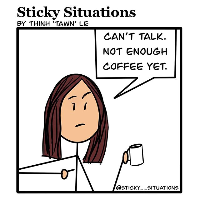 ✋ Don't speak to me until I have a chance to FULLY finish my coffee. . #comicstrips #comicsart #comicsofinstagram#comicshop #comicstagram #ComicStuff #comicsofig  #comicseries #comicsg #stickfigures #stickfiguresareawesome #cartoon #stickfigures #stickfigure #comicsketch #comicsartist