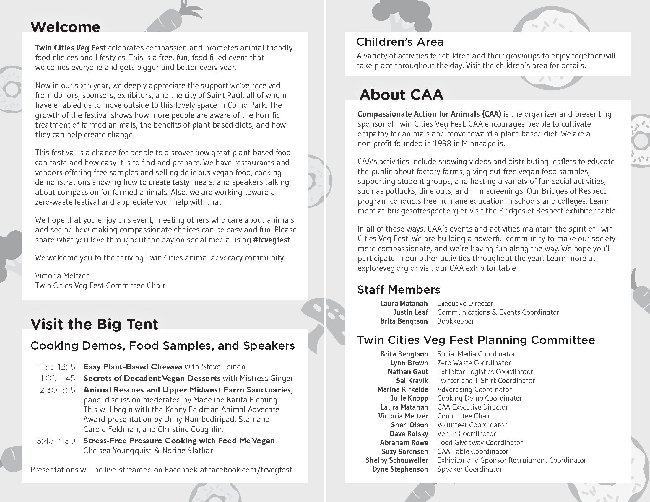 Insides of an informational program.