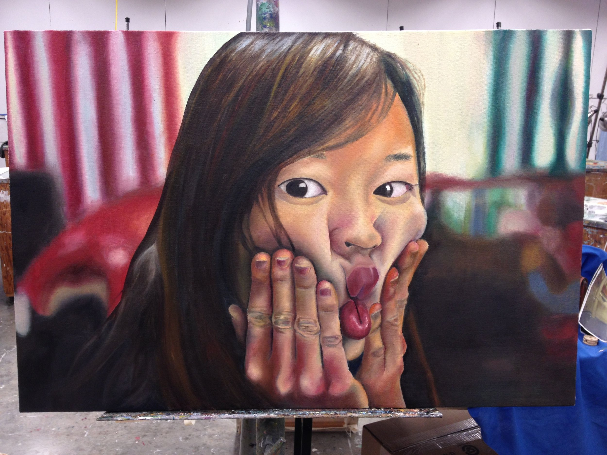 Another face for you. A fun oil painting self-portrait.