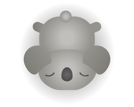 Sleeping version of the koala.