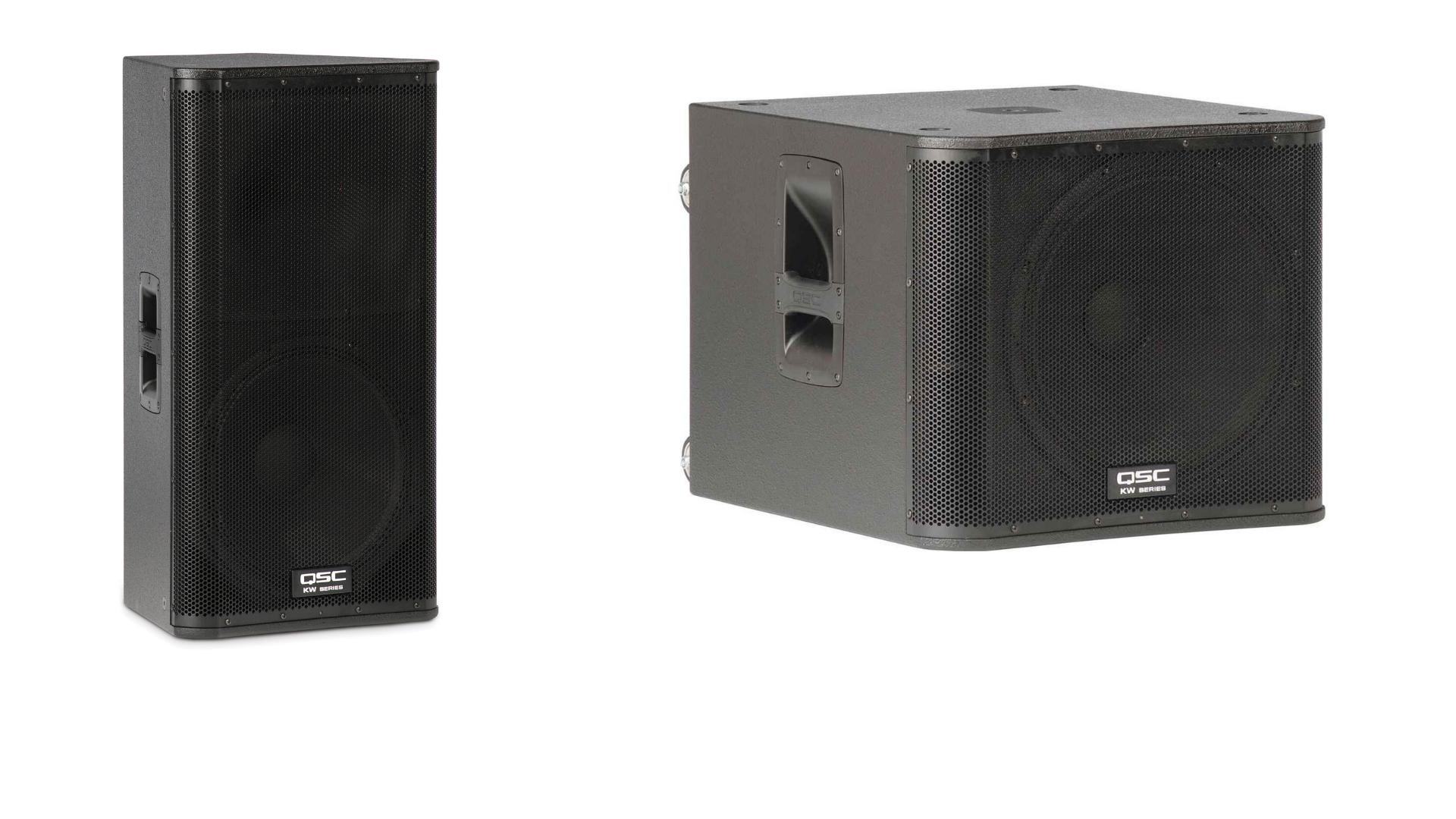 QSC KW 152 Active Speaker (x2) QSC KW 181 Sub.png