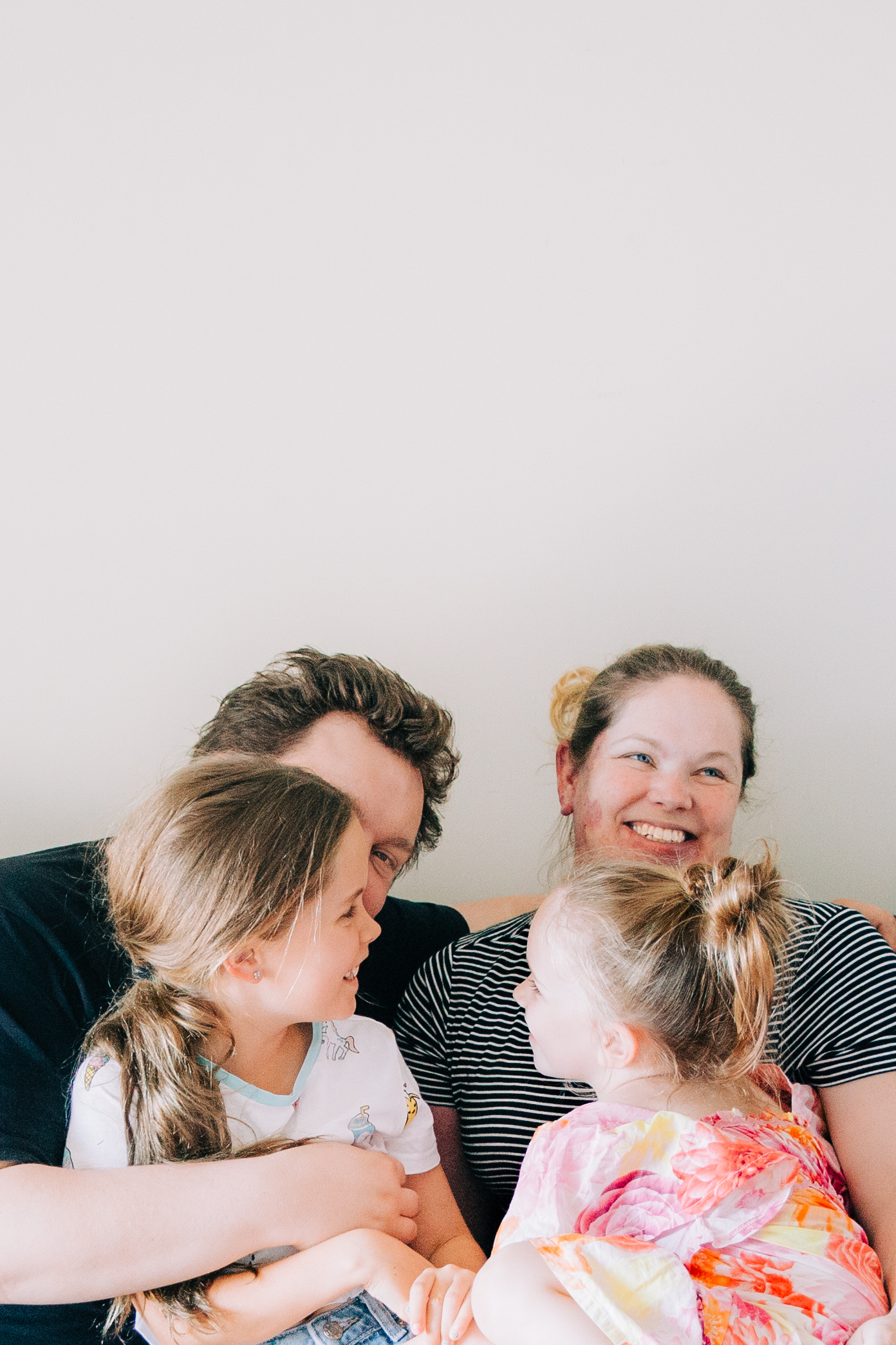 This is me, and my favourite humans. Not camera ready, but this is life - and parenthood - as we know it.