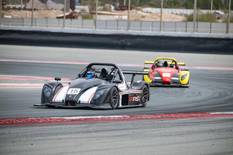 Amir Feyzulin and Konstantin Tatulov battle at the last race of the season in Dubai