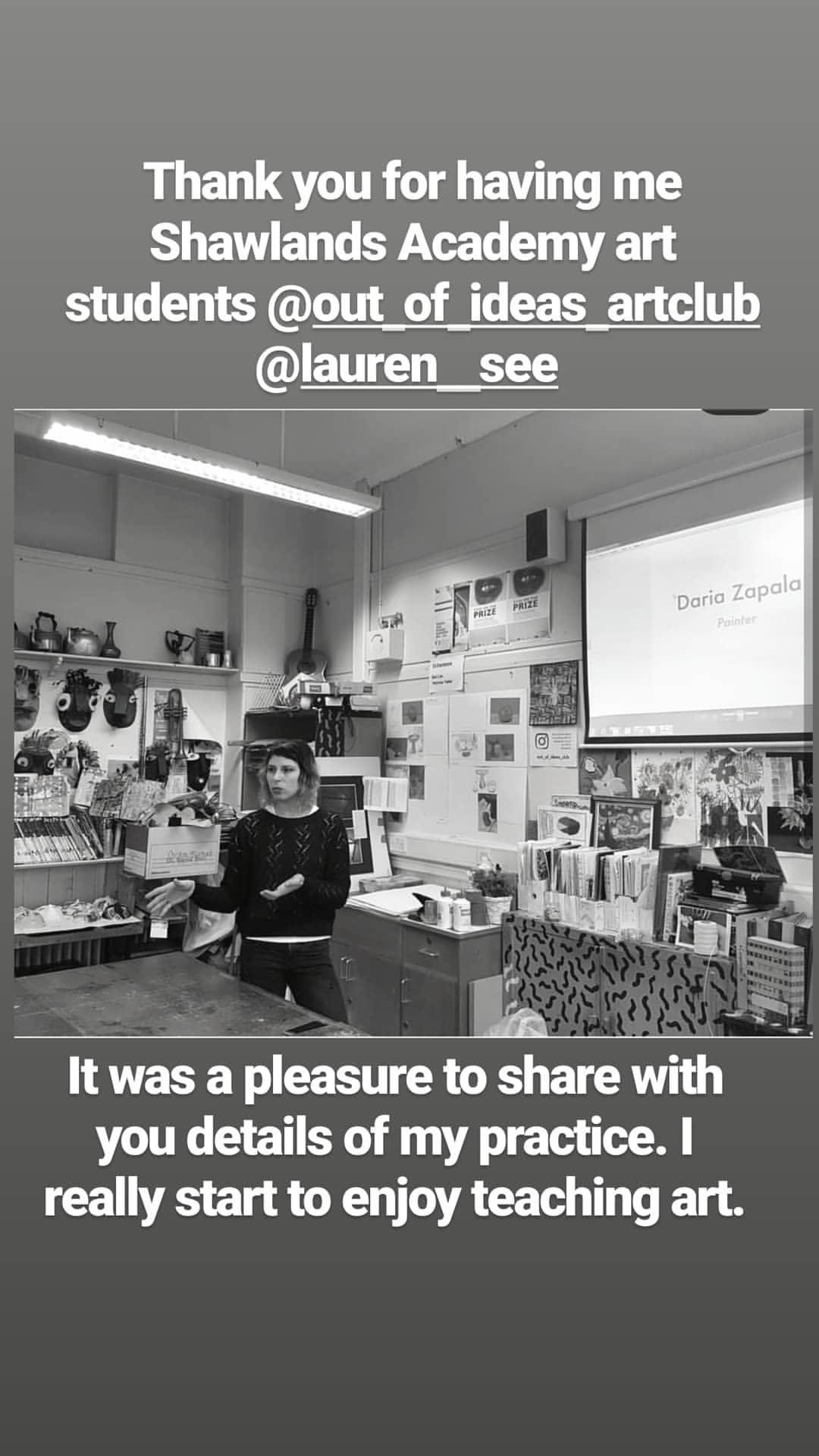 Artist Talk - I was asked to do an artist talk about my practice for Shawlands Academy, Glasgow, Scotland. Talk took place on Friday 8th March 2019.