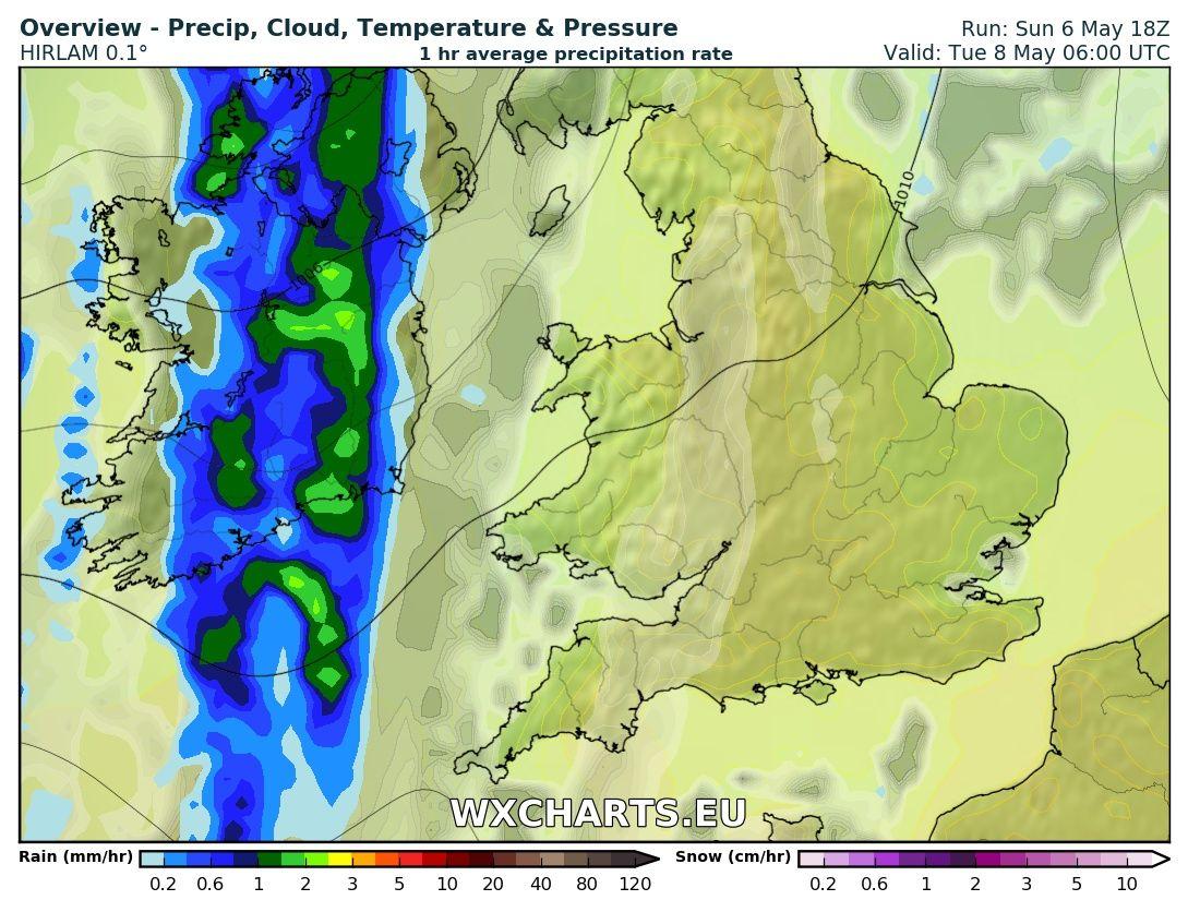 Rainfall at 6am Tuesday