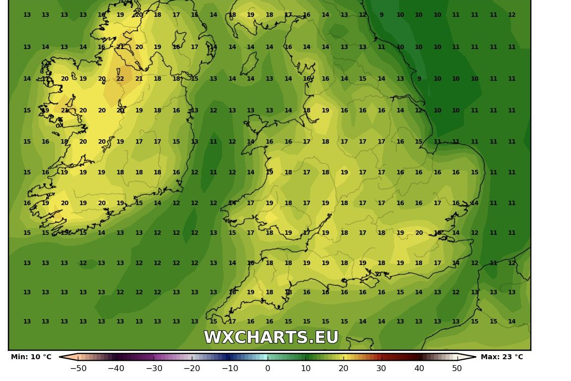 Temperatures next week into the low 20s