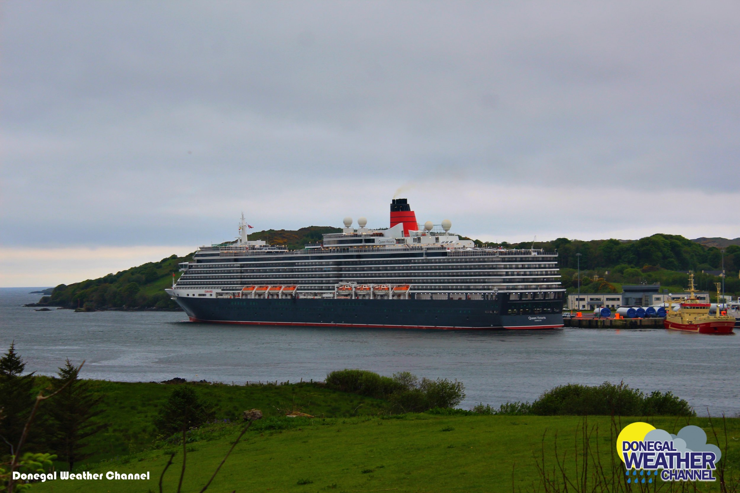 The queen Victoria cruise liner docking in Killybegs Co.Donegal This morning