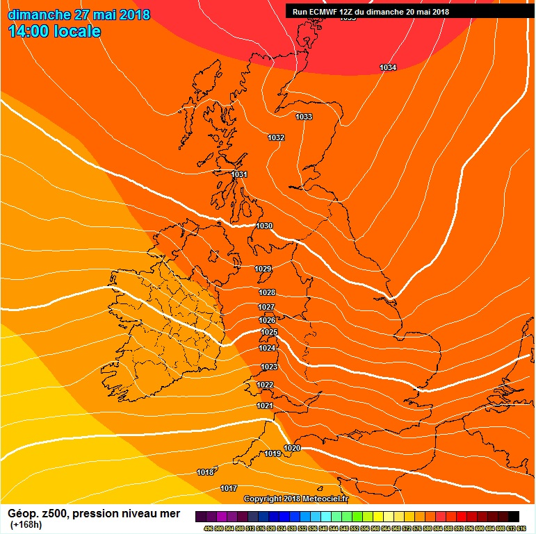 Strong area of High pressure over Ireland this weekend