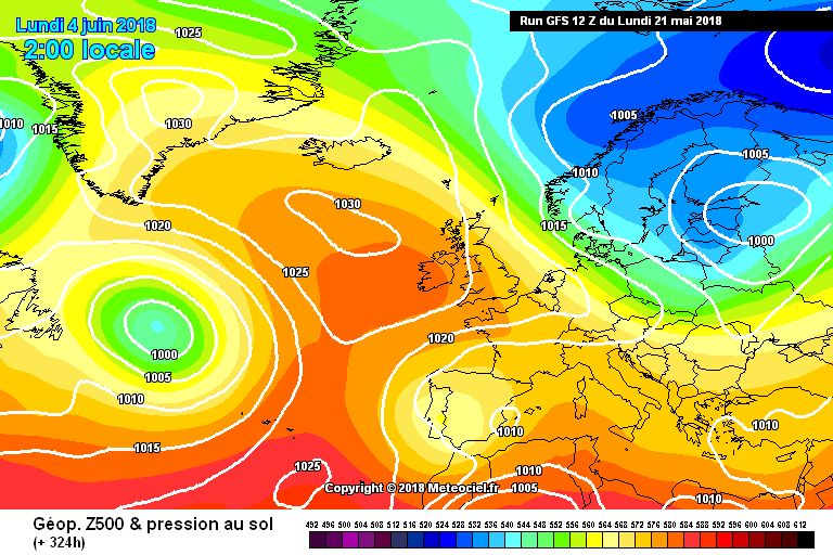 High pressure in charge over the first week of June and stopping the Atlantic from moving in.
