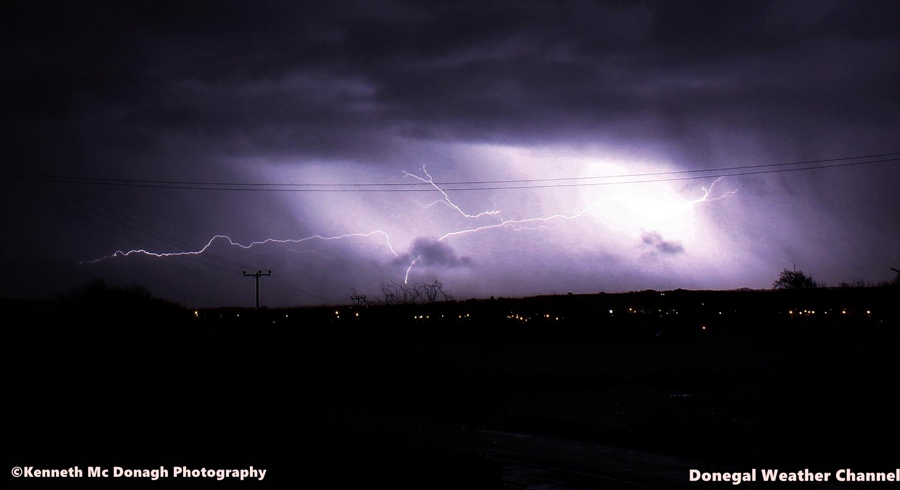 Lightning over Ballyshannon Co.Donegal Ireland