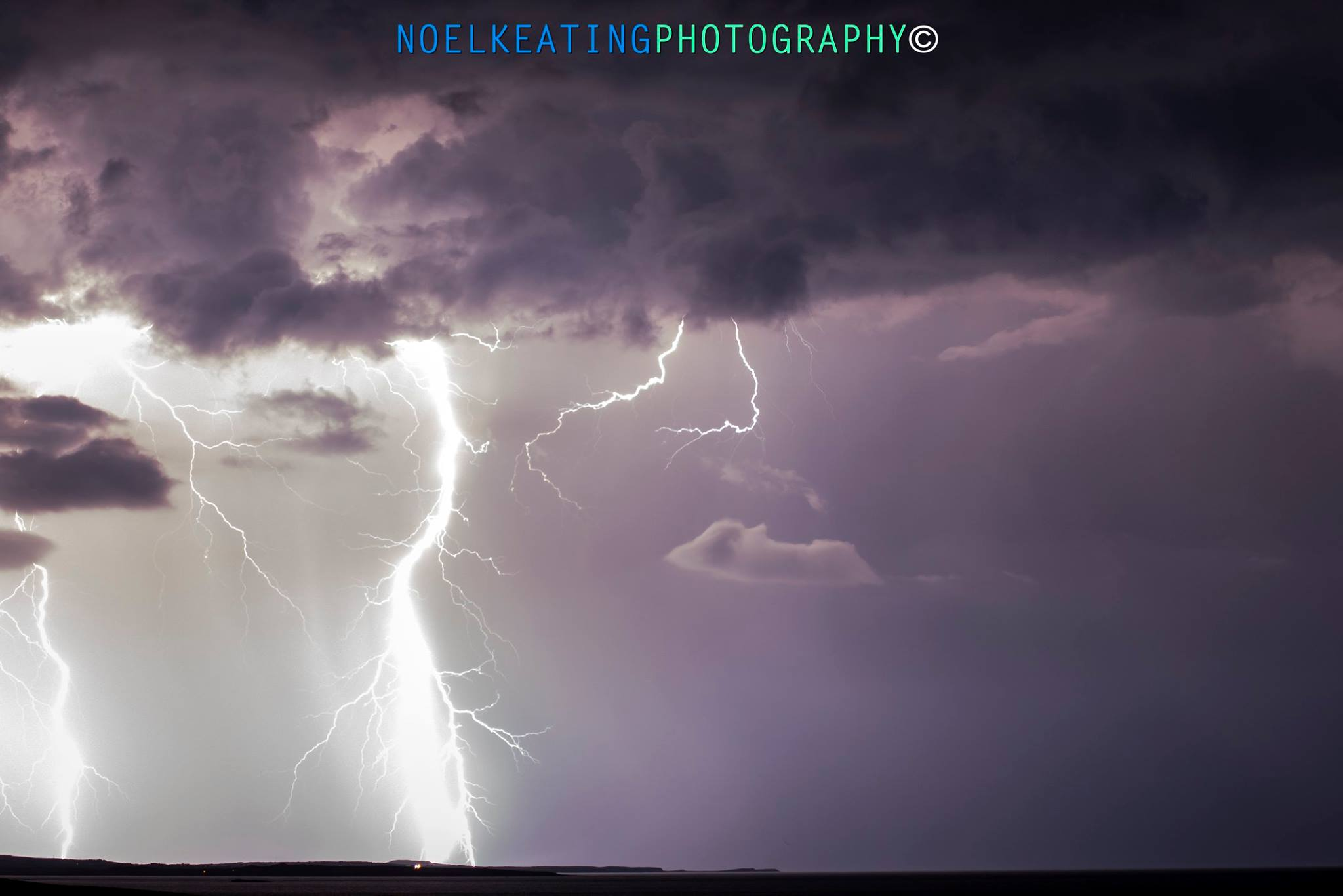 Lightning photographed over Donegal, Ireland by the talented  Noel Keating Photography