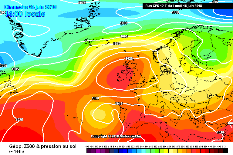 center of the high pressure sitting over Ireland on Sunday
