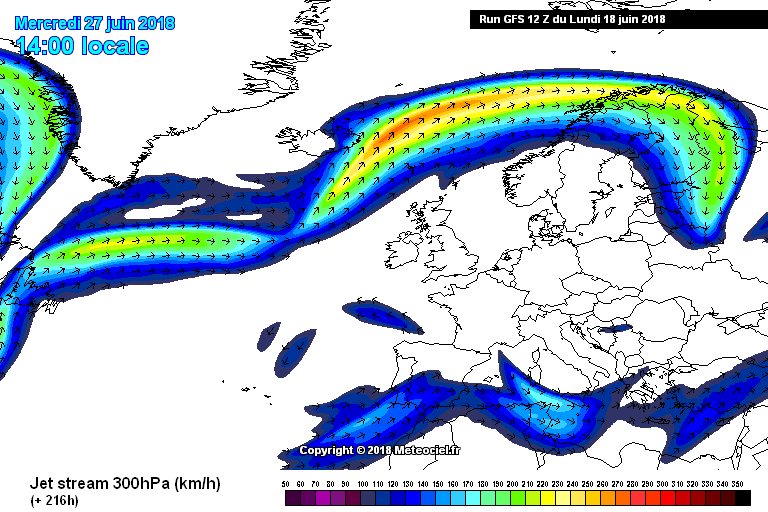 High pressure north of Ireland at the start of Ireland
