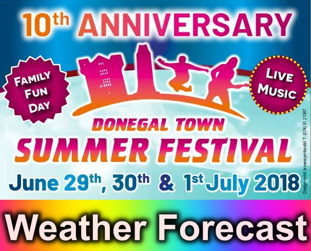 Donegal Town summer festival 2018 forecast