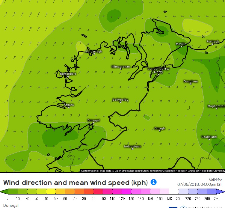 FRIDAYS WIND SPEED AND DIRECTION