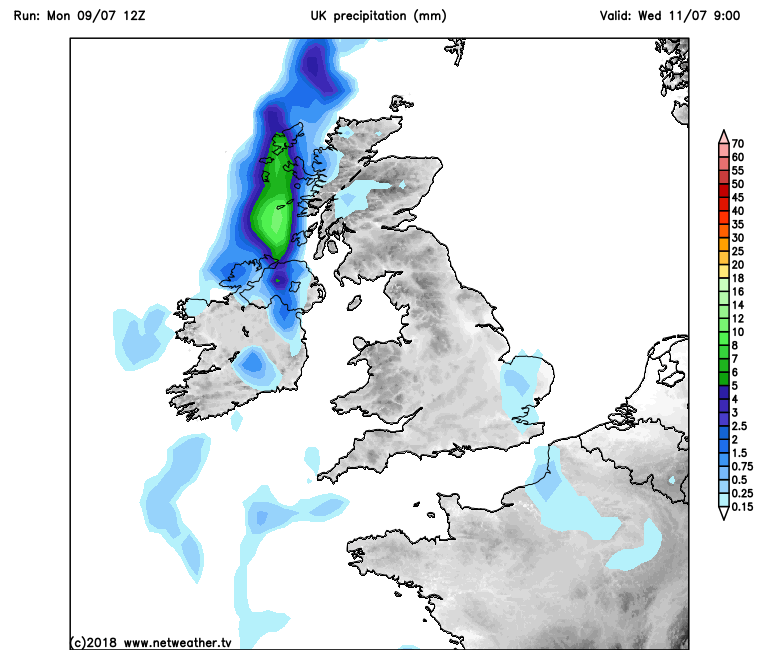 Wednesday morning 9am -GFS model output