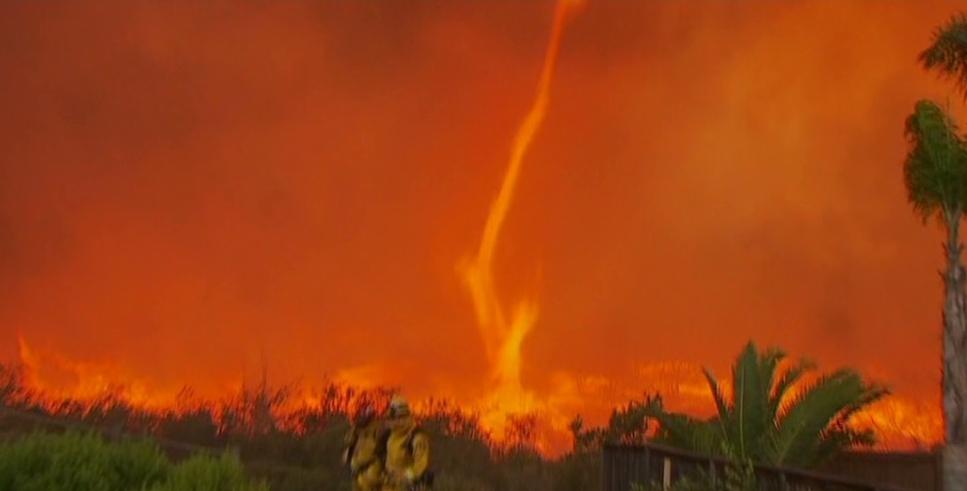 Fire Tornado in Northern California wild fire