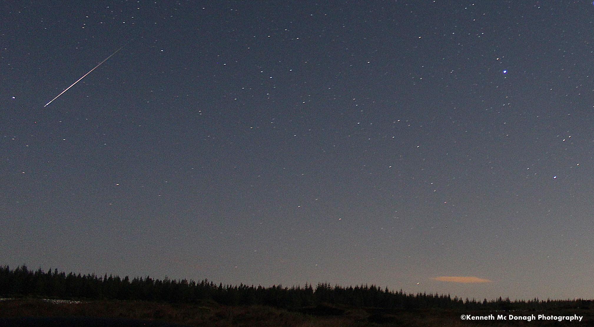 Perseid meteor Photo Donegal Weather Channel. Location Donegal Ireland