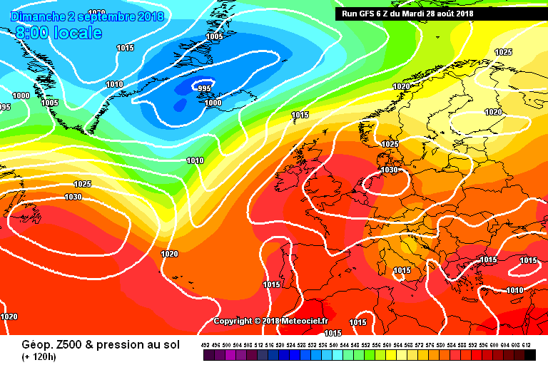 Rainfall passing over Ireland on Tuesday with sunny spells following behind.