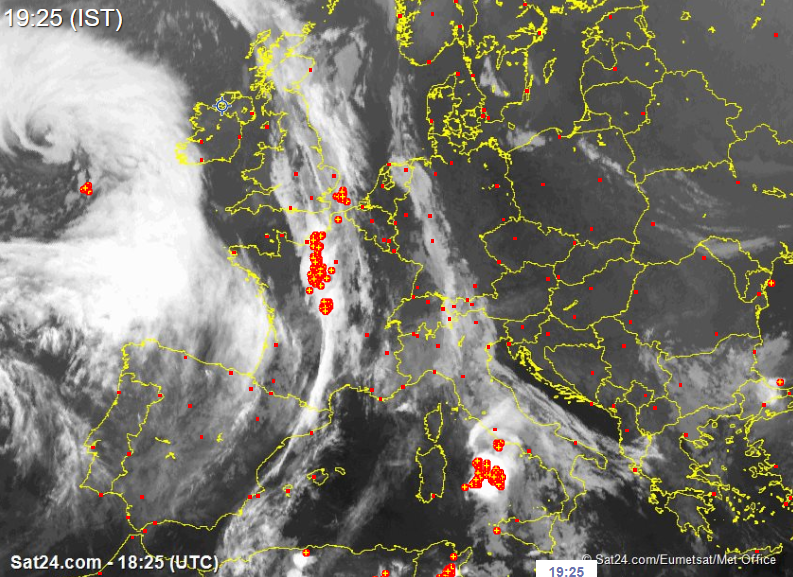 Storm Callum moving into the southwest and west coast shortly with isolated thunderstorms, and strong to severe and damaging gust possible along with coastal flooding.