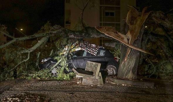 Hurricane Leslie has battered the Iberian peninsula(Image: REUTERS)