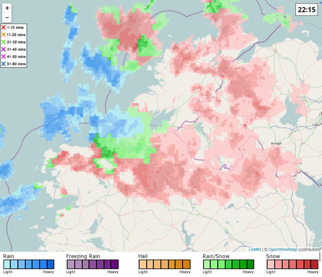 Snowfall radar