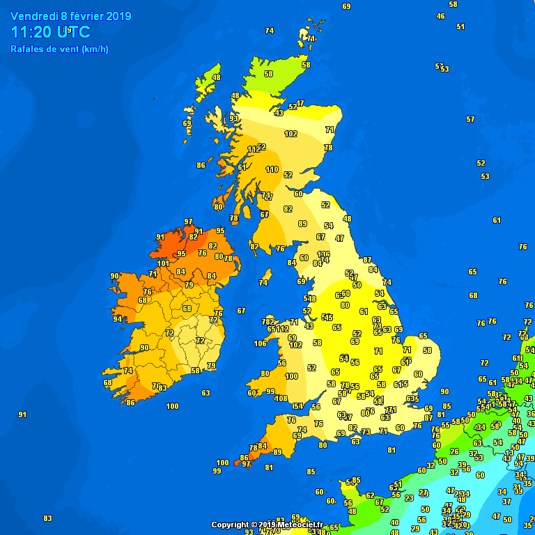 Gust between 10am and 11am this morning