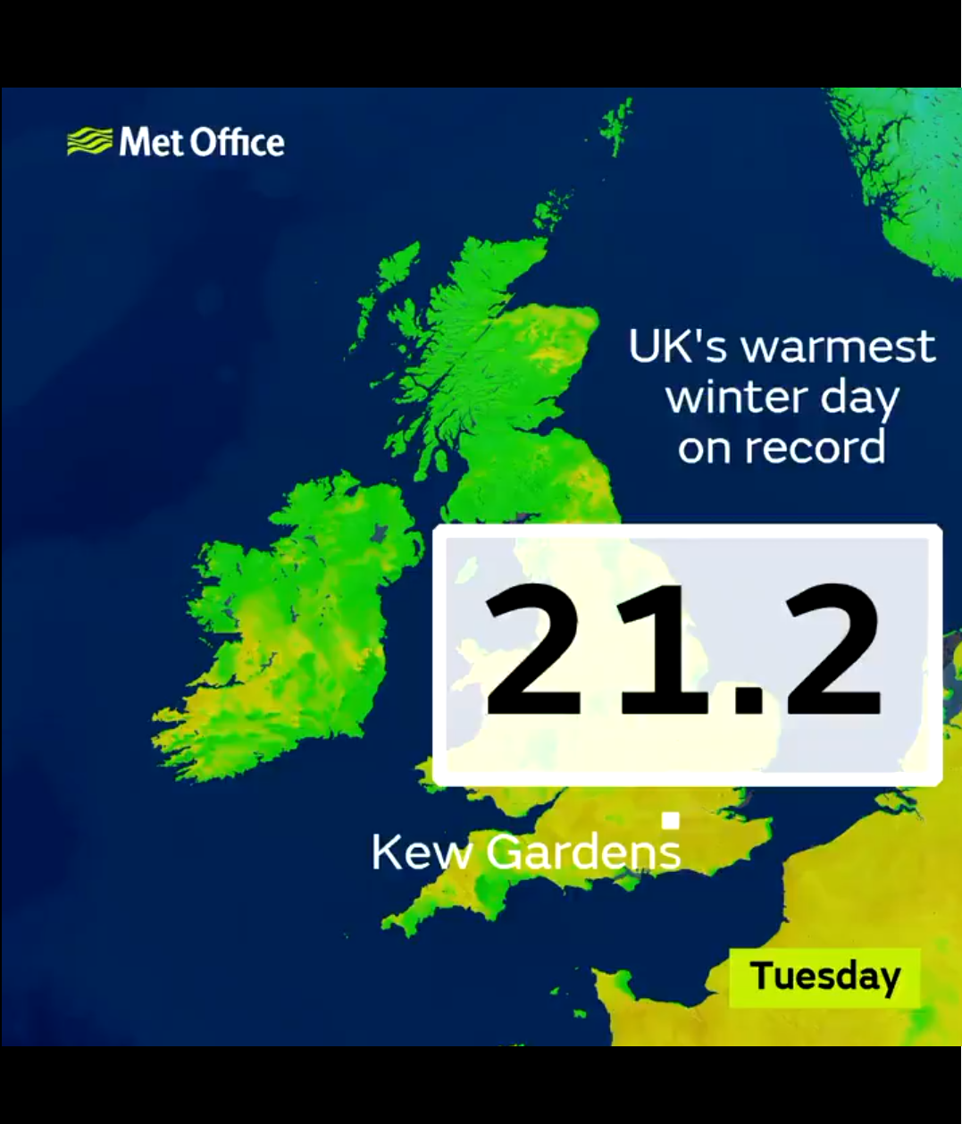warmest February temperatures recorded today in Wales