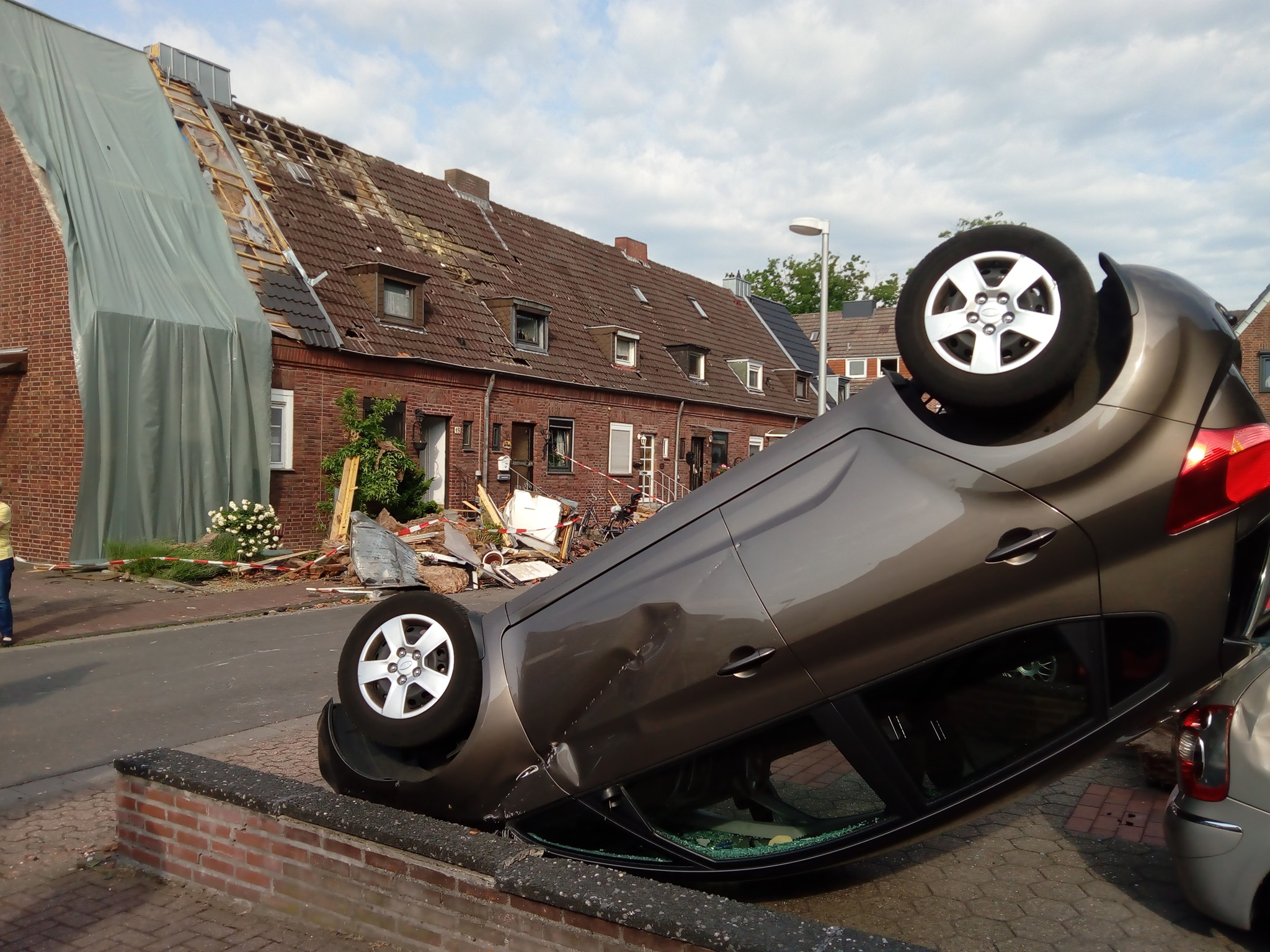 Tornado damage in Bocholt, North Rhine-Westphalia. On Tuesday night (04.06.2019), at 23:00hrs, a strong tornado targeted significant damage .