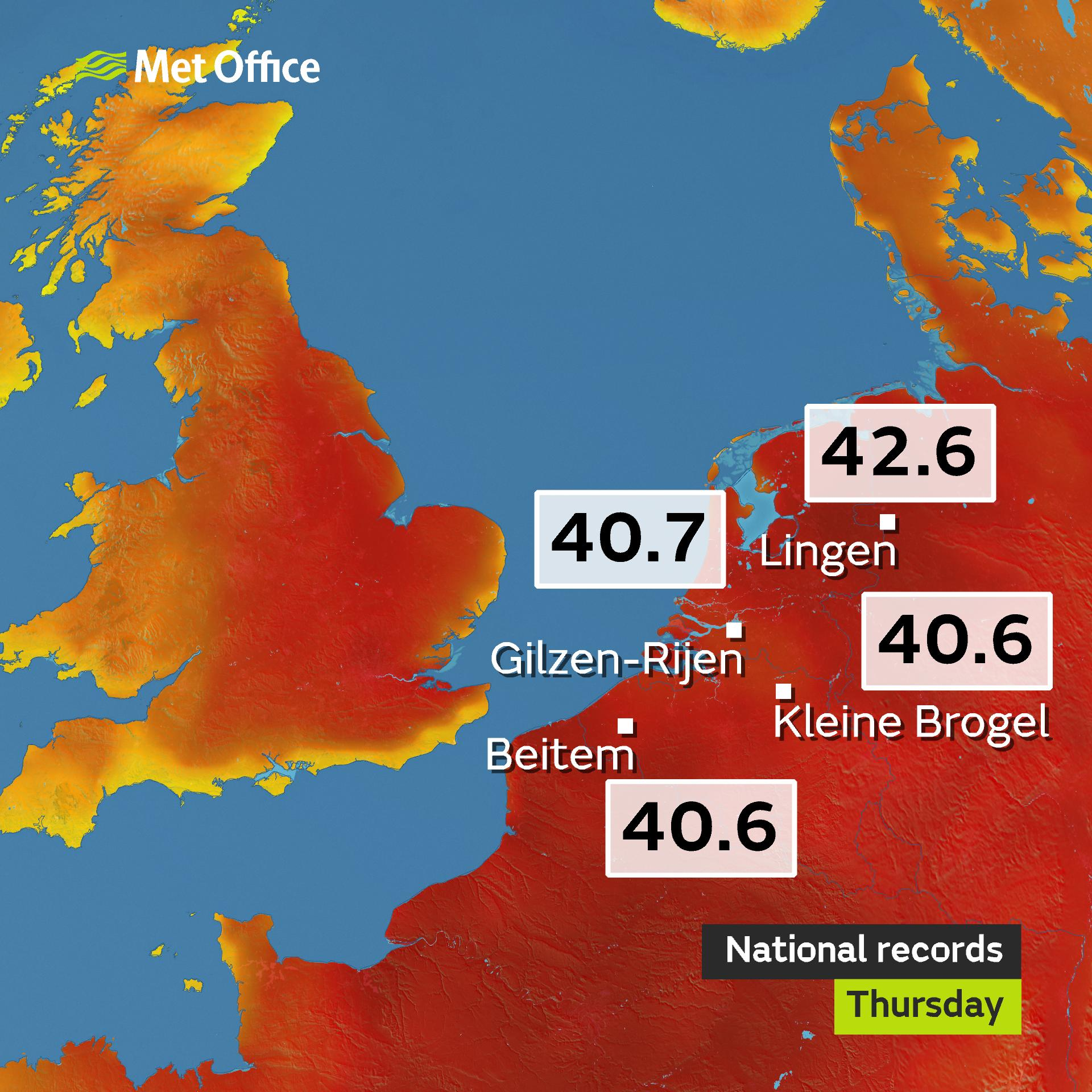 Latest temperatures been indicated by the GFS later next week