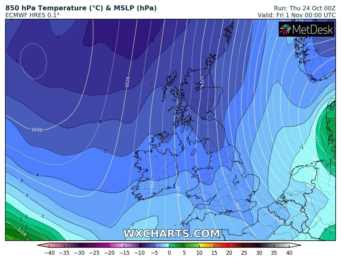 ECMWF MODEL OUTLOOK - Colder air sticks with us until the end of next week
